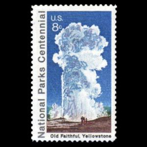 Yellowstone National Park on stamp of USA 1972