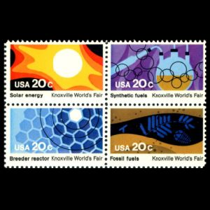 Plant fossil on stamp of USA 1982