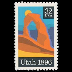 Landmark of Arches National Park on stamp of USA 1996