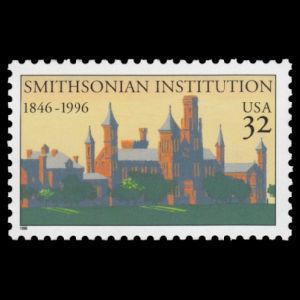 Smithsonian Institution on stamp of USA 1996