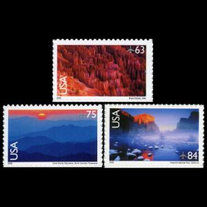 Landscapes of Bryce Canyon National Park  and Yosemite National Park on stamp of USA 2006