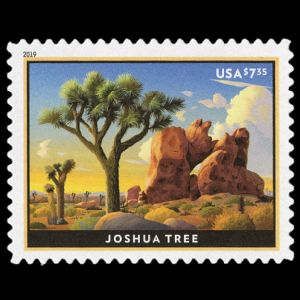 The Joshua Tree National Park on stamp of USA 2019