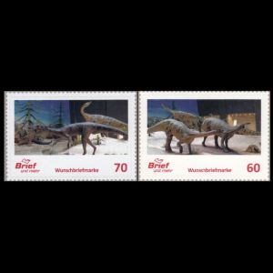 Dinosaurs of personalized stamps of Brief und mehr private post company in Germany from 2020
