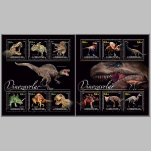 Dinosaurs on stamps of Azerbaijan 2017