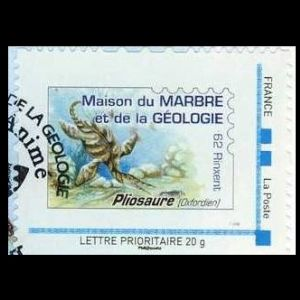 Plesiosaur on personalized stamp of France 2008