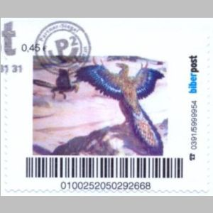 prehistoric animals of personalized stamps of Biberpost 2011
