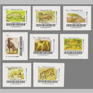 prehistoric animals of personalized stamps of Biberpost 2016