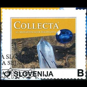 Cretaceous fish from Komen on personalized stamp of Slovenia 2016