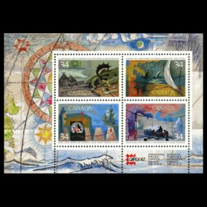 Exploration of Canada on stamps from 1986