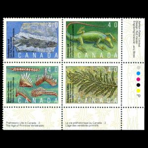 Prehistoric animals on stamps of Canada 1991