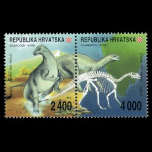 Dinosaurs on stamps of Croatia 1994