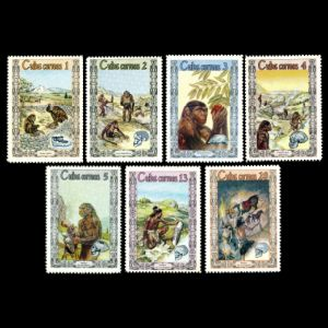 Human evolution on stamps of Cuba 1967