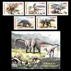 Dinosaurs on stamps of Cuba 2005