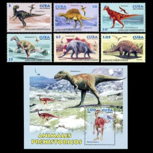 Dinosaurs on stamps of Cuba 2006