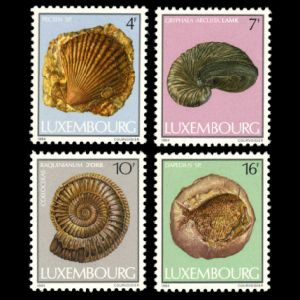 some fossils on stamps of Luxembourg 1984