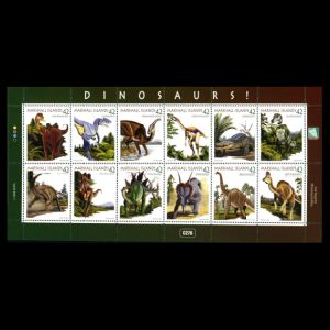 Dinosaurs on stamps of Marshall islands 2008
