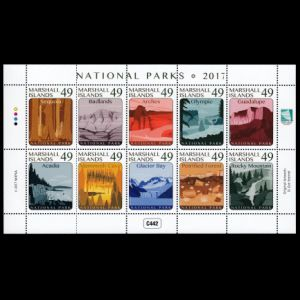 Petrified forest on stamps of Marshall islands 2017