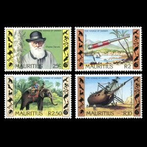 Charles Darwin on stamp of Mauritius 1982