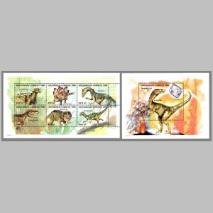 Dinosaurs on stamps of Mozambique 1999