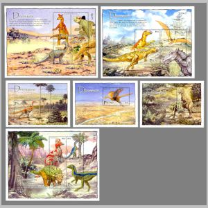 prehistoric animals on stamps of Palau 2004