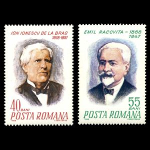 Emil Racovita and Ion Ionescu on stamps of Romania 1968