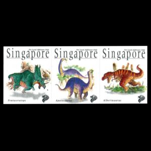Dinosaur stamps of Singapotre 1998