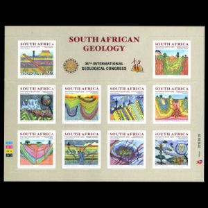 Fossils on stamps of South Africa 2016