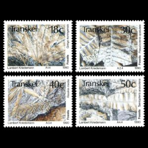fossils on stamps of Transkei 1990