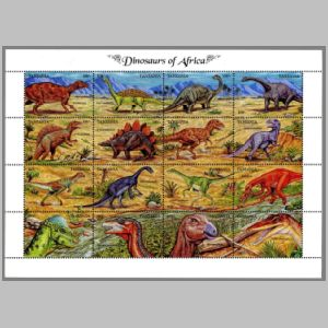 Dinosaurs on stamps of Tanzania 1992
