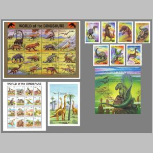 Dinosaurs on stamps of Tanzania 1994