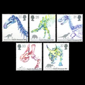 Dinosaurs on stamps of UK 1991