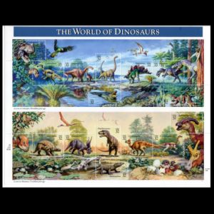 Dinosaurs and other Prehistoric animals on stamps of USA 1997