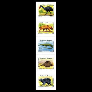 Prehistoric animals on stamps of Uruguay 1997