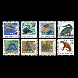 Dinosaurs on stamps of Vietnam 1979