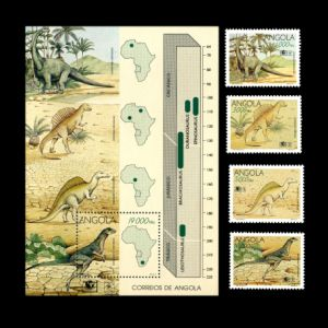 Dinosaurs on stamps of Angola 1994
