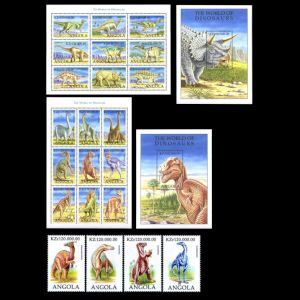 Dinosaurs on stamps of Angola 1998