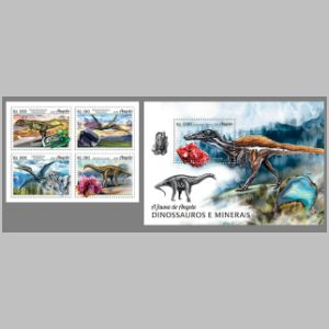 Dinosaurs on stamps of Angola 2018