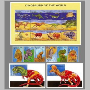 Dinosaurs on stamps of Antigua and Barbuda 1995