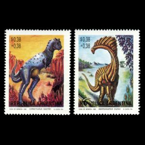 dinosaurs on stamps of Argentina 1992
