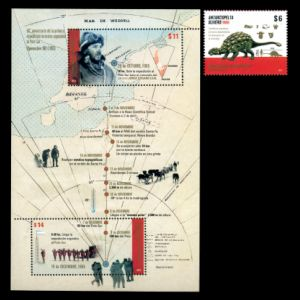 Dinosaurs on stamps of Argentina 2015