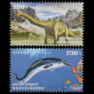 Prehistoric animals on stamps of Armenia 2020