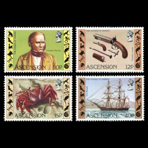 Charles Darwin on stamps of Ascension Islands 1982