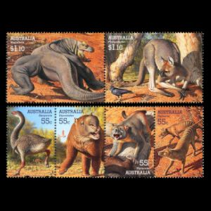 prehistoric animals, mega fauna on stamps of Australia 2008