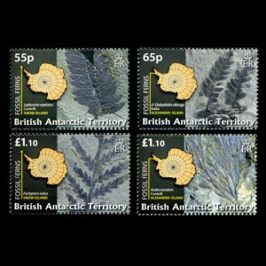 Plant fossils on stamps of BAT 2008