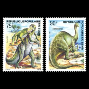 dinosaurs on stamps of Benin 1984