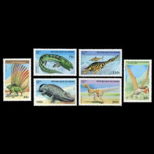 Dinosaurs and other prehistoric animals on stamps of Benin 1996