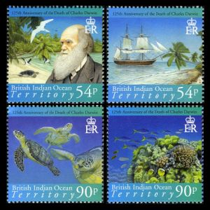 Darwin on stamps of BIOT 2007