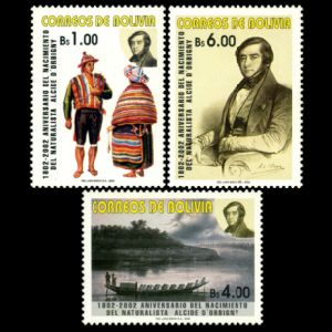 Naturalist Alcide d'Orbigny on stamps of Bolivia 2002