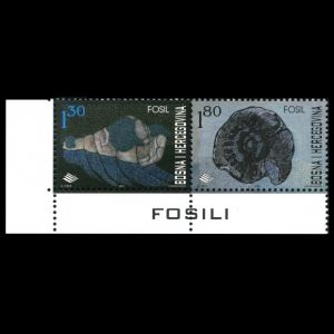 Paleontological Finds in Bosnia and Herzegovina on stamps from 2001