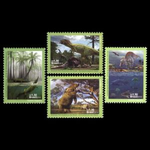 Dinosaurs and prehistoric animals on stamps ofBrazil 2014
